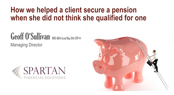 We helped a client secure a pension